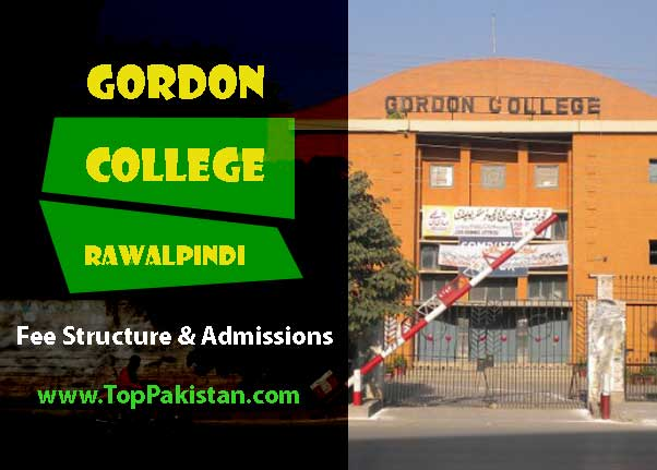 Gordon College Rawalpindi Admissions and Fee Structure