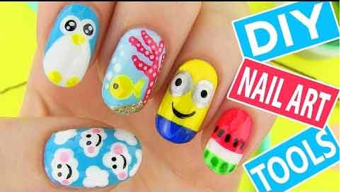 DIY nail art video