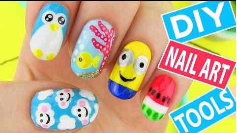 DIY nail art video