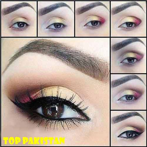 eye-makeup-tutorial-for-brown-eyes-with-pink-and-yellow-eyeshadow1