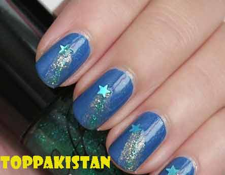 shooting-star-nail-art-design