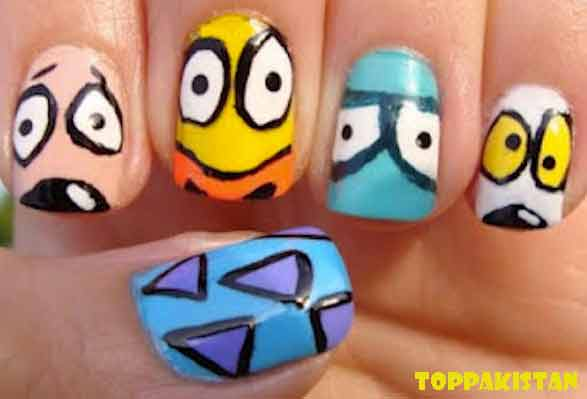 cartoon-nail-art