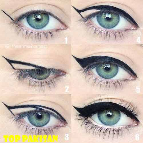 cat-eye-step-by-step