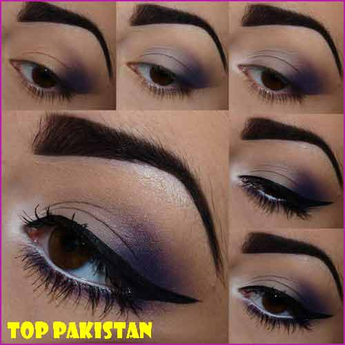 how-to-do-violet-pretty-eye-makeup-for-brown-eyes-tutorial