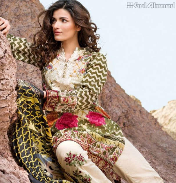 25 best Gul Ahmed Lawn Collection for Summer 2018