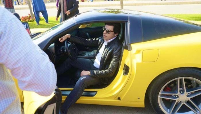 PTI's Faisal Vawda Irks Twitter Yet Again With Yellow Sports Car