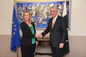 EU High Representative Meet With Foreign Minister Pf Pakistan SM Qureshi